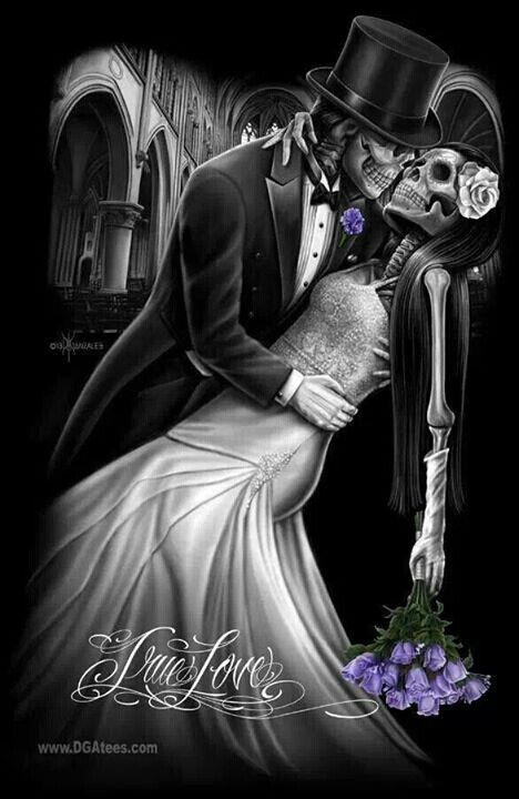 Skull Couple The Dance Of Eternal Love Skeleton Love