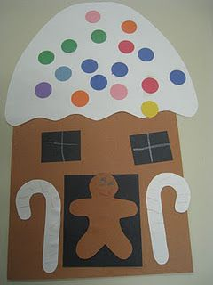 Gingerbread house craft classroom christmas for Gingerbread crafts for kindergarten