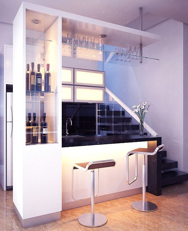 Contemporary Home Bar Design Ideas: Contemporary Style