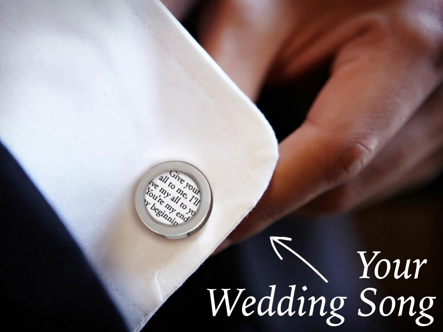 invitation wedding wording gifts%0A Personalized Wedding Cufflinks   Groom Cufflinks   Custom Cufflinks with  your Wedding Song Lyrics   Groom Gift   Gift for Husband