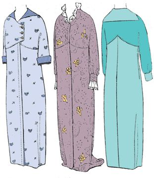 1910 Empire Style Dressing Gown