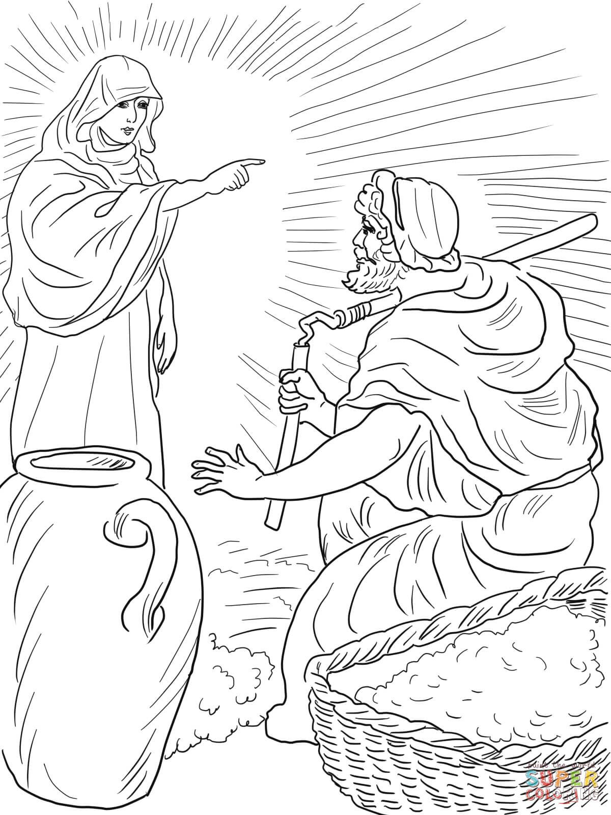 Gods Angel Called Gideon Coloring Page From Judge Category Select 22041 Printable Crafts Of Cartoons Nature Animals Bible And Many More