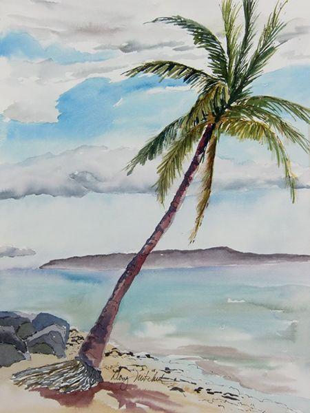"Painting by PAPOH member Doug Mitchell. Painting is called ""Island Dreaming""."