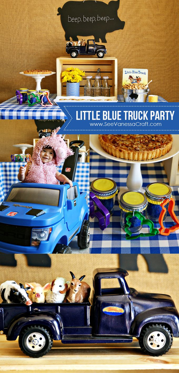 party little blue truck play date with the step2 raptor Themed