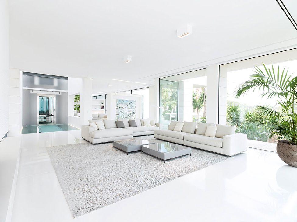 Impeccable White Living Room A Home To Dream Of Villa Chameleon Magnificent White Living Room Interior Design Design Decoration