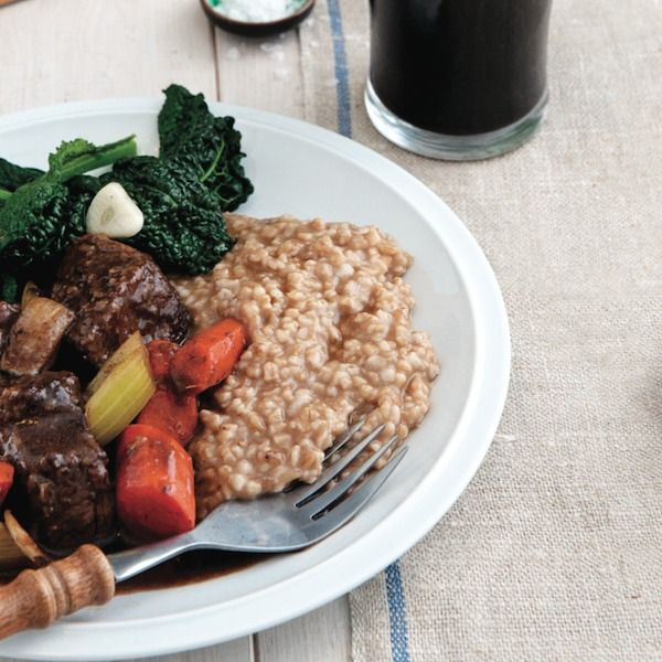 Stout Braised Beef Short Ribs and Parmesan Risotto - The ...