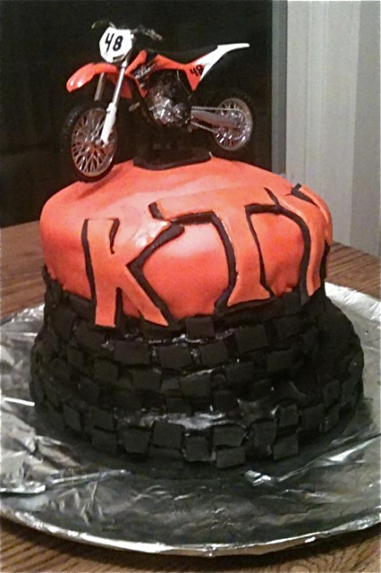 Moto Mom Kori From Maine Did This Cake For Her Sons 8th Birthday
