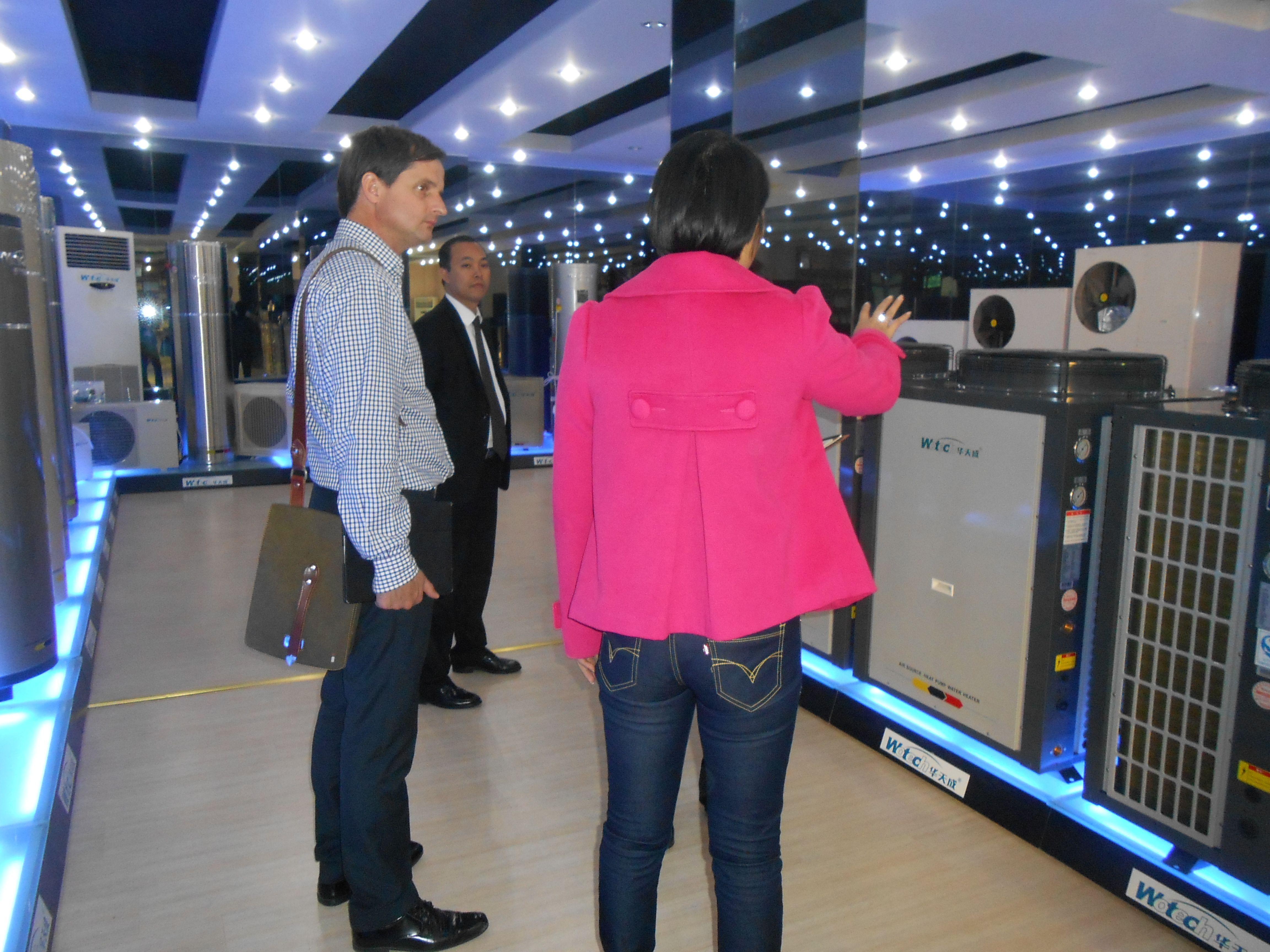 heat pump, customer visit,China heat pump manufacturer,www