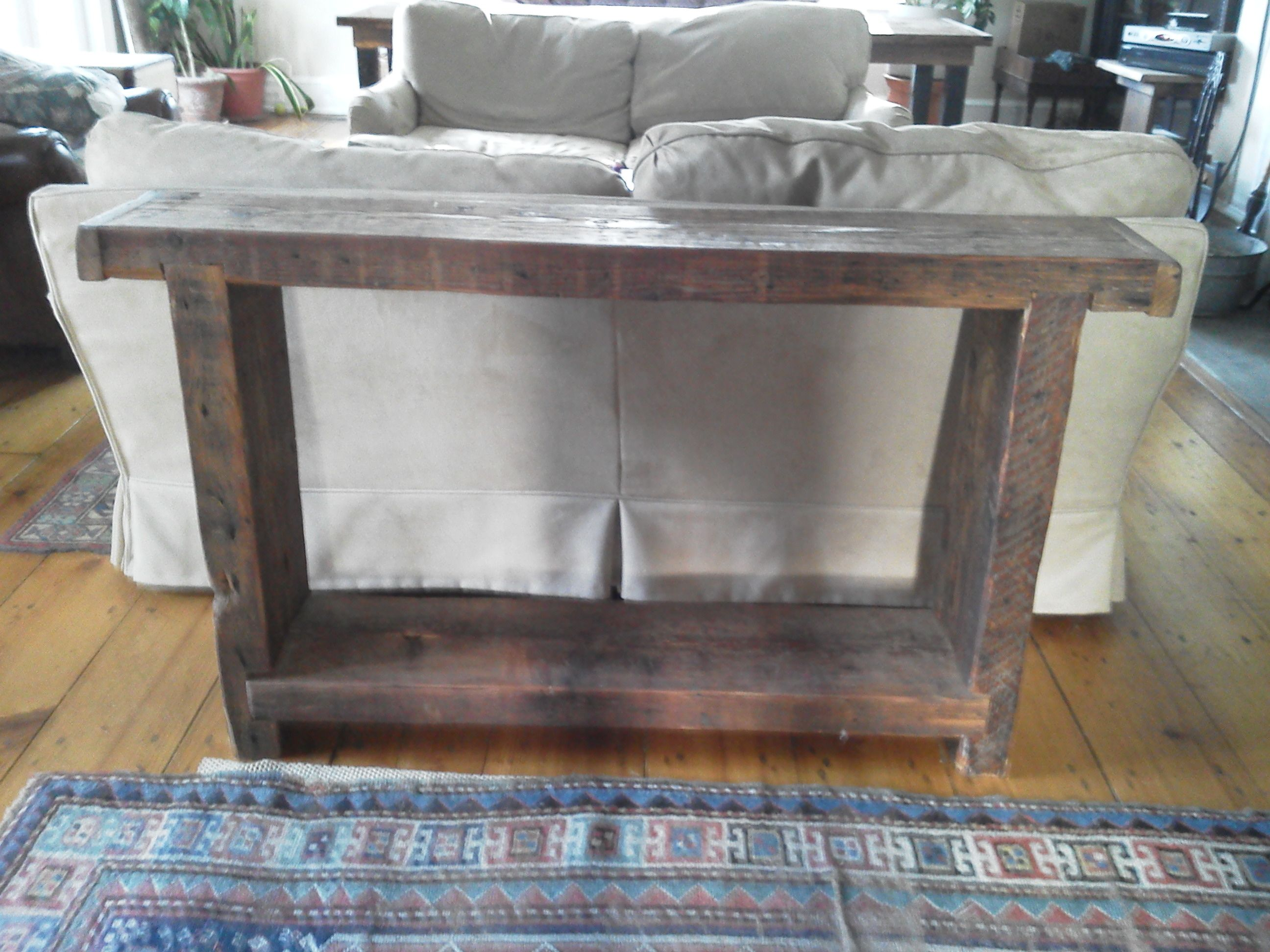 Remarkable Simple Console Table Mde From Old Floor Joists Console Uwap Interior Chair Design Uwaporg