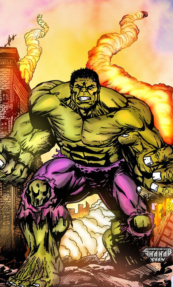 #Hulk #Fan #Art. (Hulk Color By: Shahab Khan &Shahabkhan01. (THE * 5 * STÅR * ÅWARD * OF: * AW YEAH, IT'S MAJOR ÅWESOMENESS!!!™)[THANK Ü 4 PINNING!!!<·><]<©>ÅÅÅ+(OB4E)