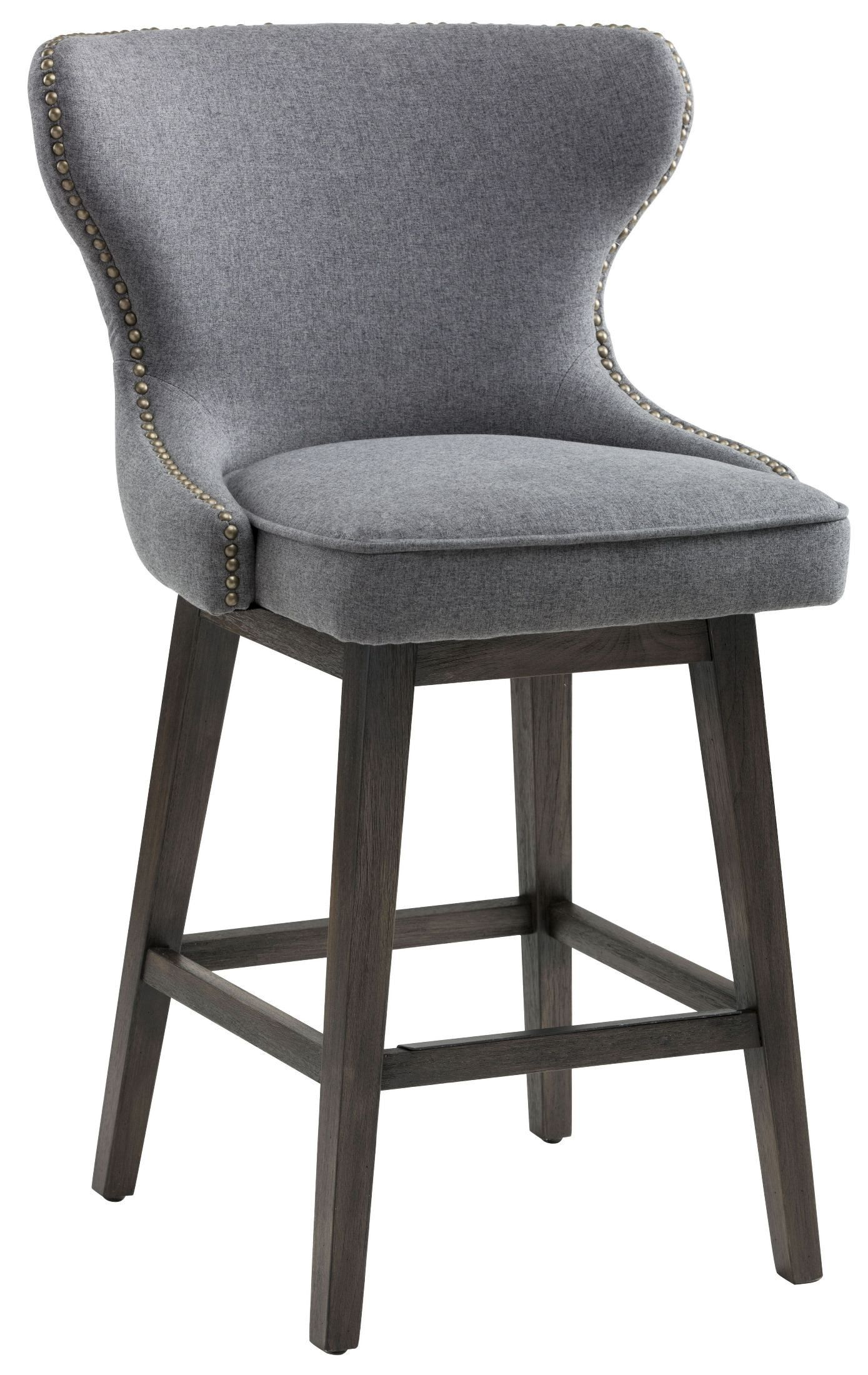 Ariana Dark Grey Fabric Swivel Counter Stool | house | Pinterest ...
