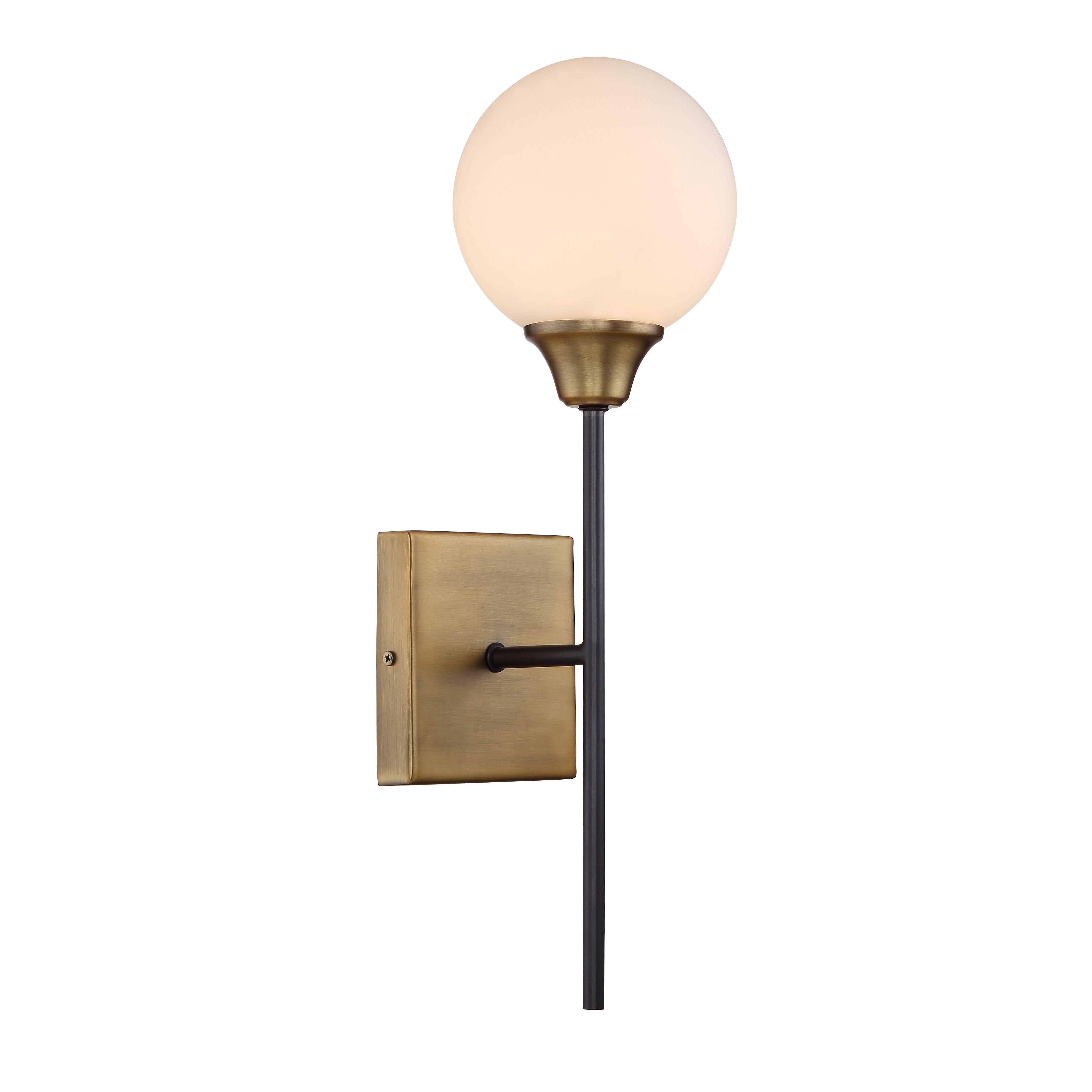 Chloe loft industrial 2 light oil rubbed bronze wall sconce free - Mercer41 St Helens 1 Light Wall Sconce