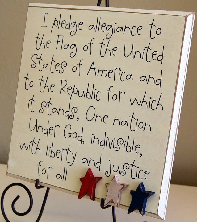 I pledge allegiance to the Flag...