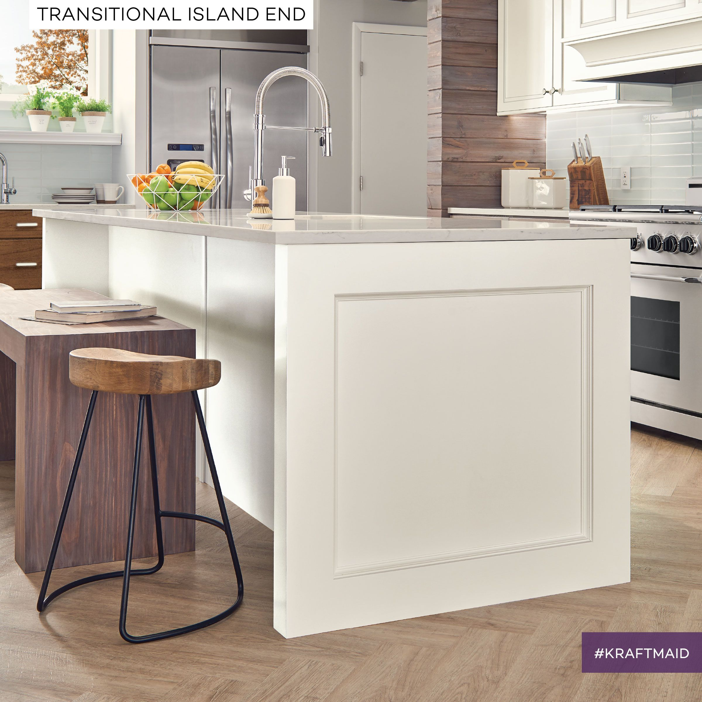 Add A Little Softness To A Modern Kitchen With A KraftMaid - Kraftmaid kitchen island