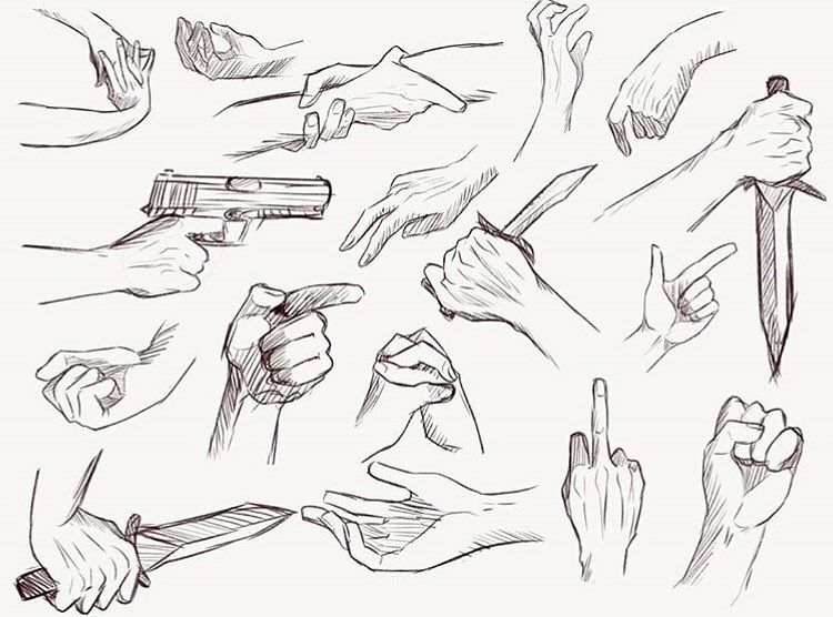 Anime Art Reference Tutorials On Instagram Hand Reference Sheet Source Credit Michiryozz Dis Hand Drawing Reference Hand Reference Art Reference Photos