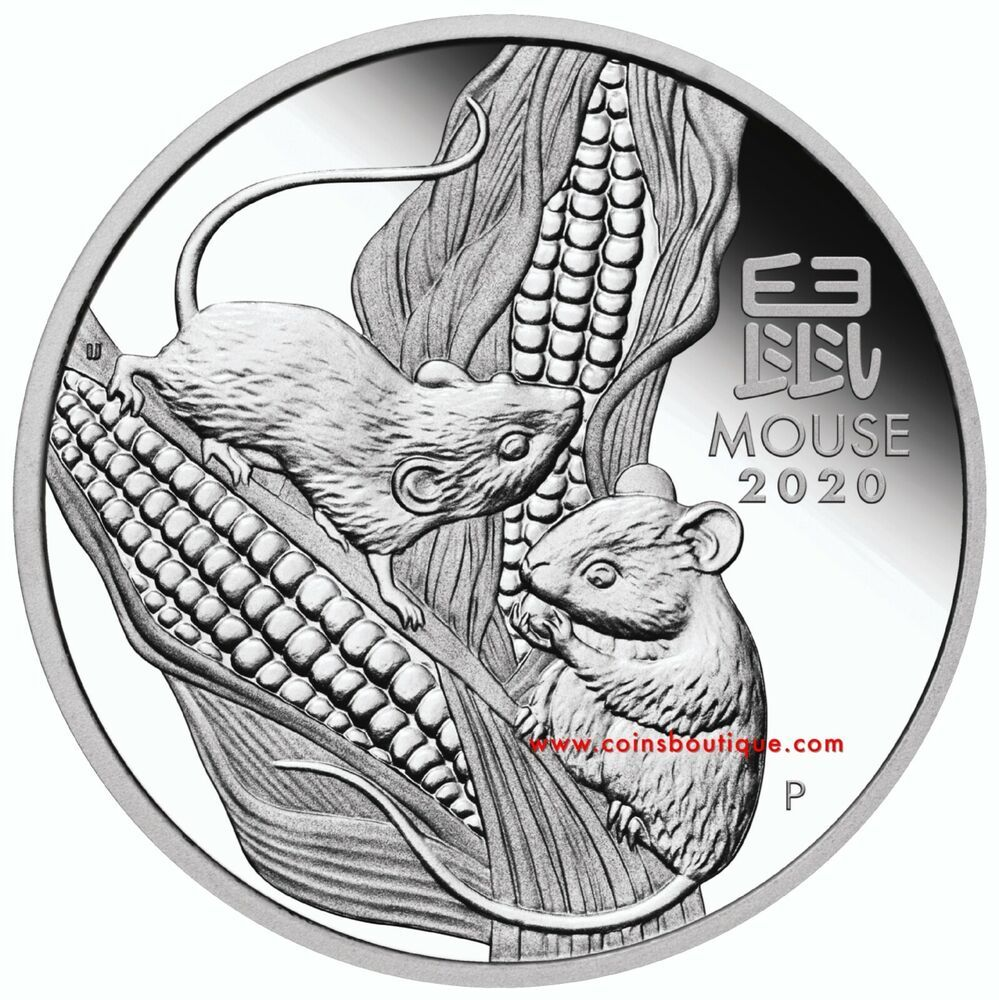 Year of The Mouse 1/2 oz Proof Silver Coin Australia 2020