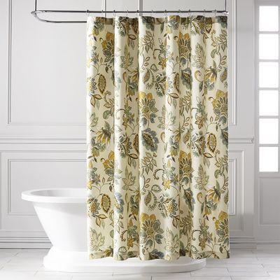 Pier One Shower Curtains.39 95 Pier One Glencove Blue Shower Curtain Bathroom