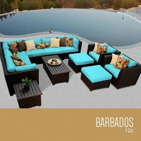 TKC Barbados 12 Piece Outdoor Wicker Patio Furniture Set ** More info could be found at the image url.