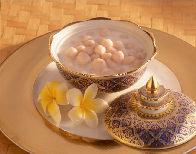 Glutinous Taro Balls in Coconut Syrup | Recipe | Coconut ...