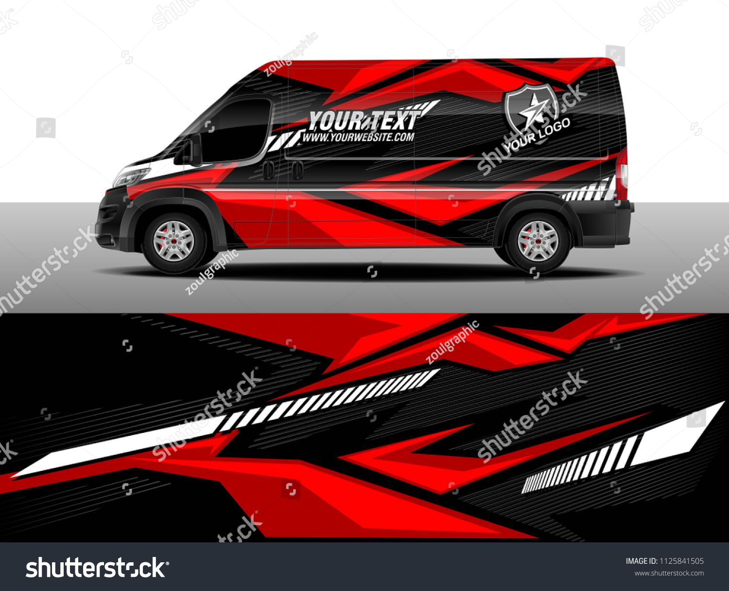 Cargo Van Decal Truck And Car Wrap Vector Graphic Abstract Stripe Designs For Wrap Branding Vehicle Sponsored Ad Car Wrap Car Sticker Design Cargo Van [ 1215 x 1500 Pixel ]