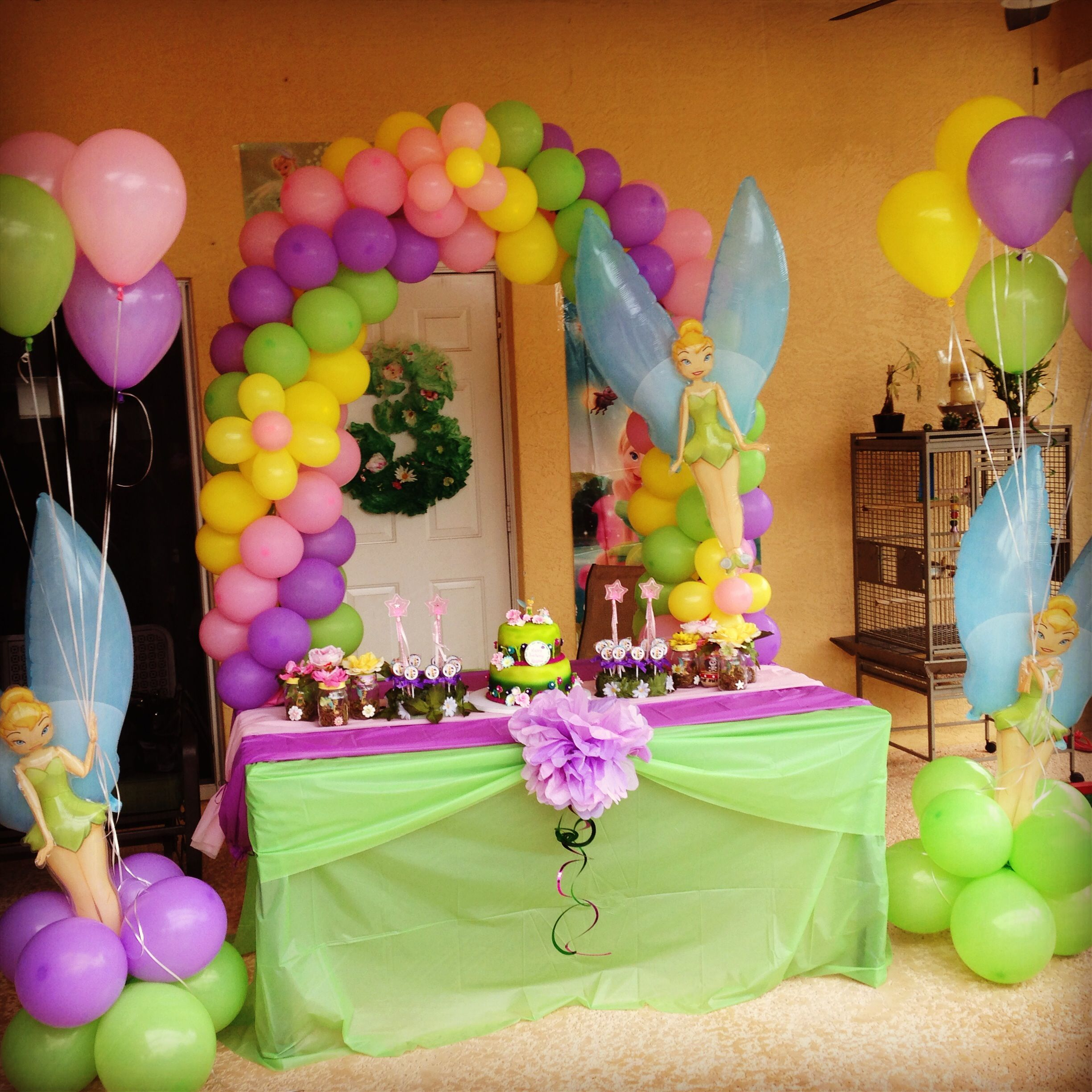 Birthday Decoration: I Like The Table Cloths, Colored Runner Down The Middle