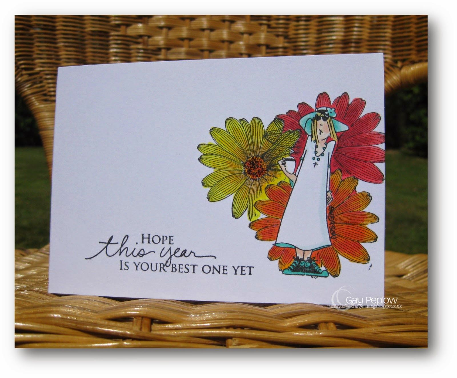 'Crafty Musings: Birthday card................... Emerson stamp