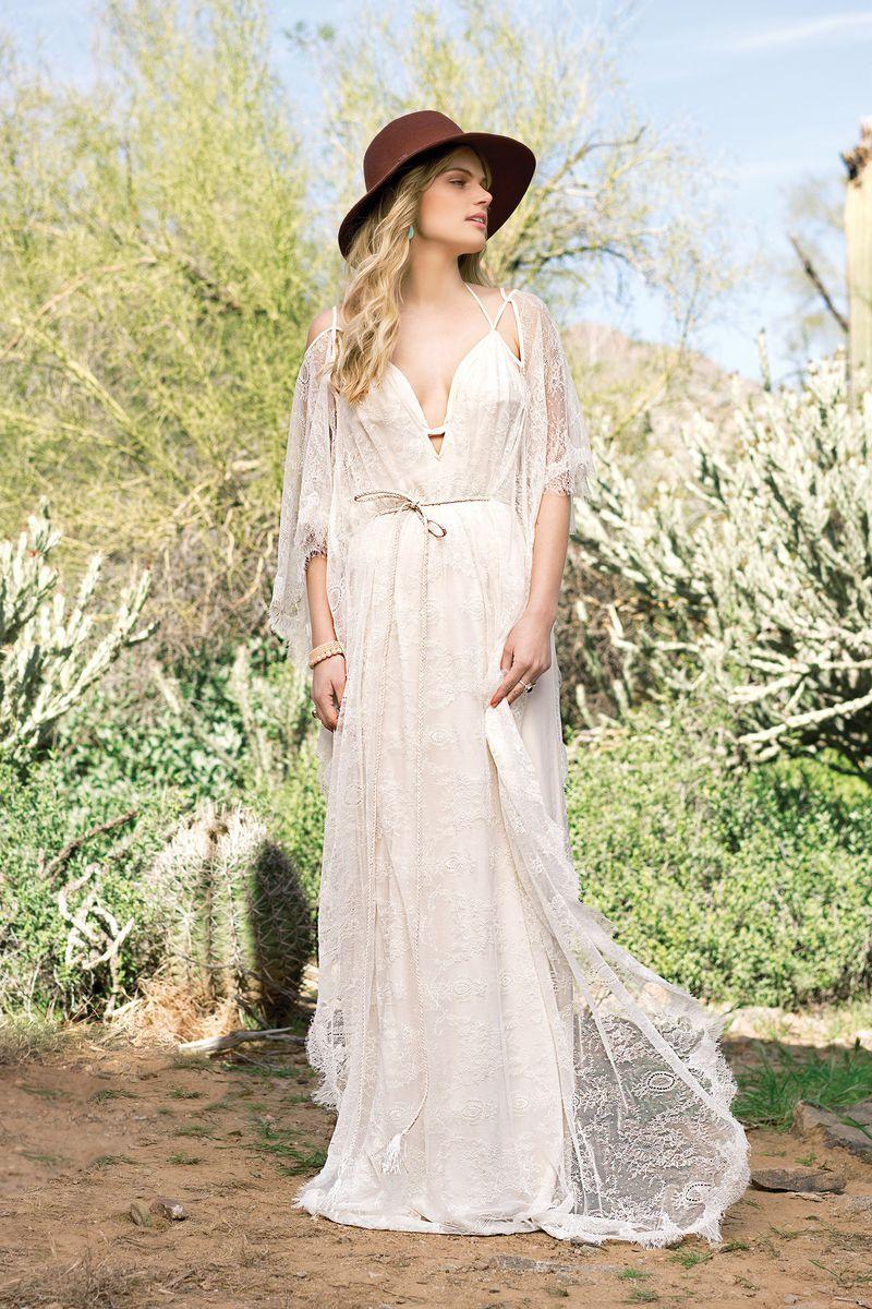 Lillian West - Style 6523: Bikini Top Draped Gown with Self-Tie ...