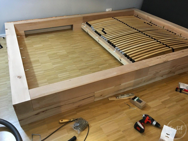einmal neues schlafzimmer bitte unser xxl familienbett pinterest familienbett bauen gro es. Black Bedroom Furniture Sets. Home Design Ideas