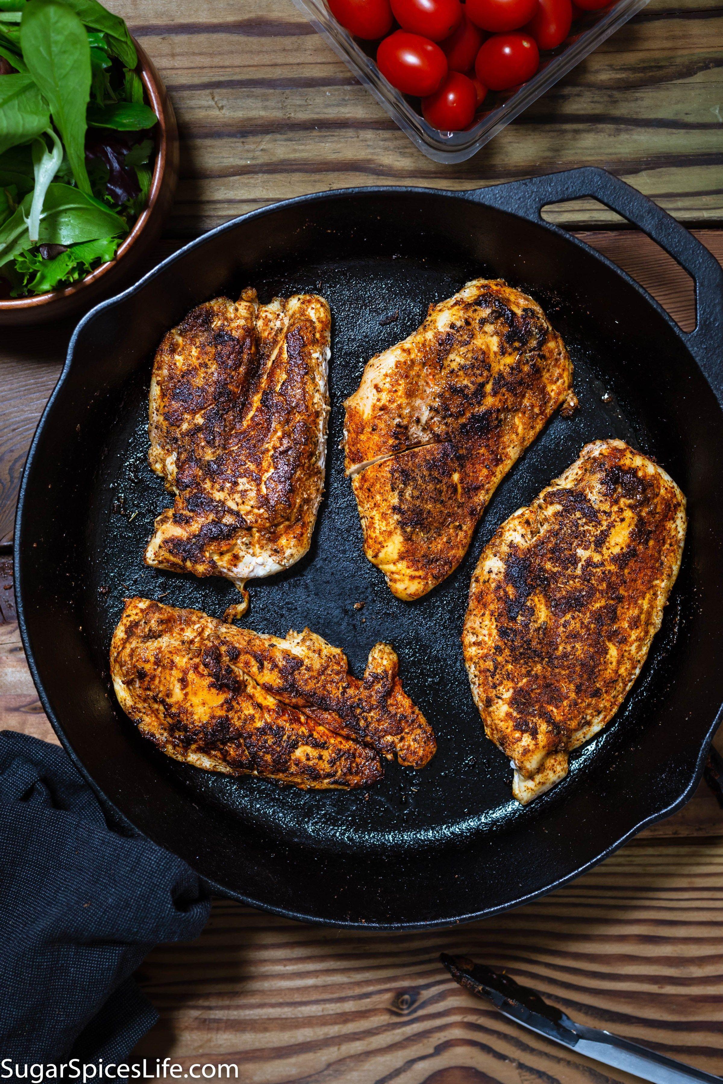Mild Blackened Skillet Chicken #blackenedchicken