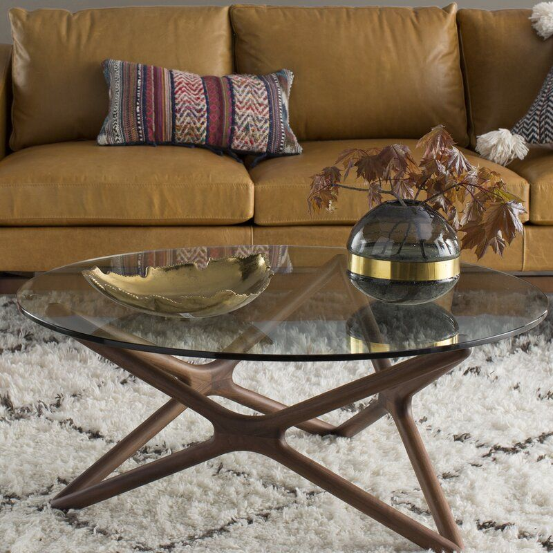 Conner Abstract Coffee Table In 2020 Coffee Table Round Coffee