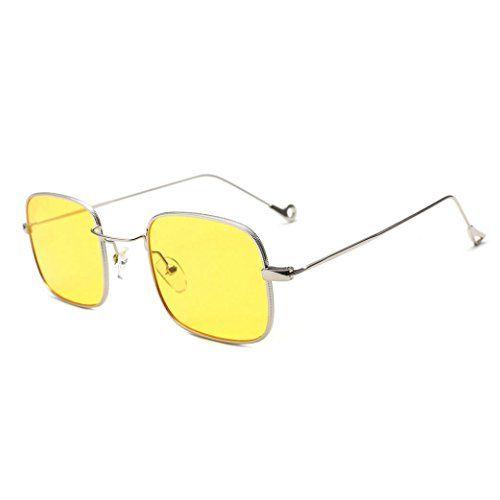 b80e3c75b6c82 Shades Lunettes de soleil Les femmes ont coloré des verres colorés Quadrate  intégrés UV Malloom