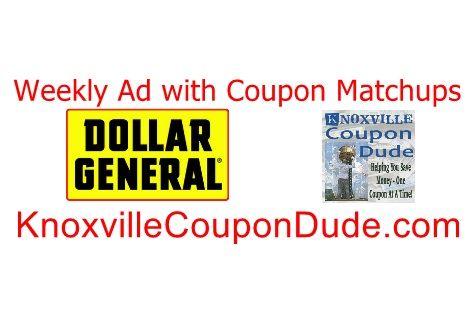 Dollar General 8/24 8/30 Weekly Ad with Coupon Matchups