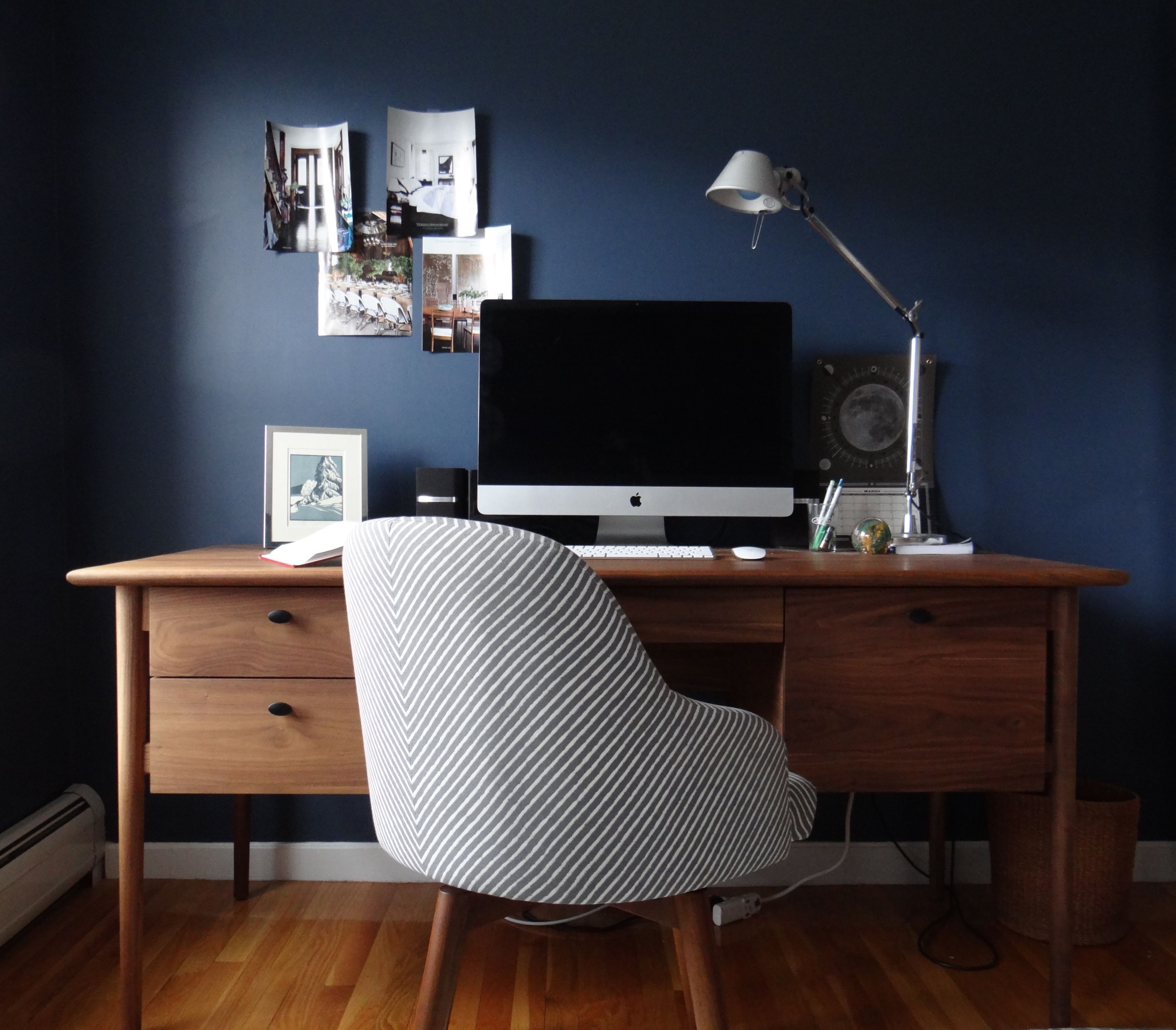 Crate and Barrel Kendall Desk West Elm Saddle Chair