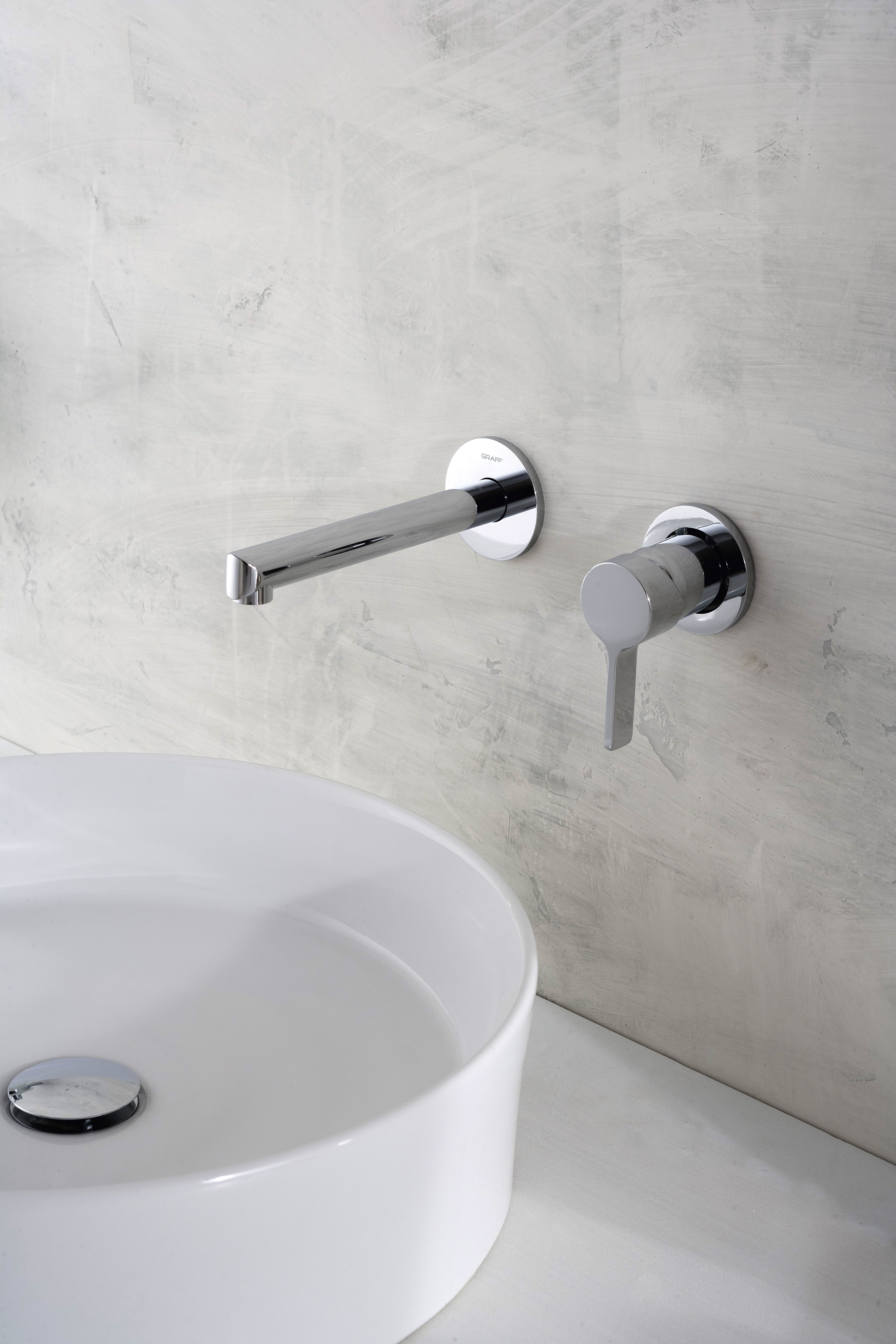 The Terra wall-mounted faucet exudes beauty while having a water ...