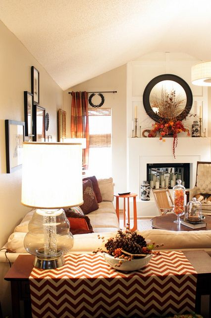 30 Beautiful And Cozy Fall Dining Room Décor Ideas: Fall Living Room, Living Room