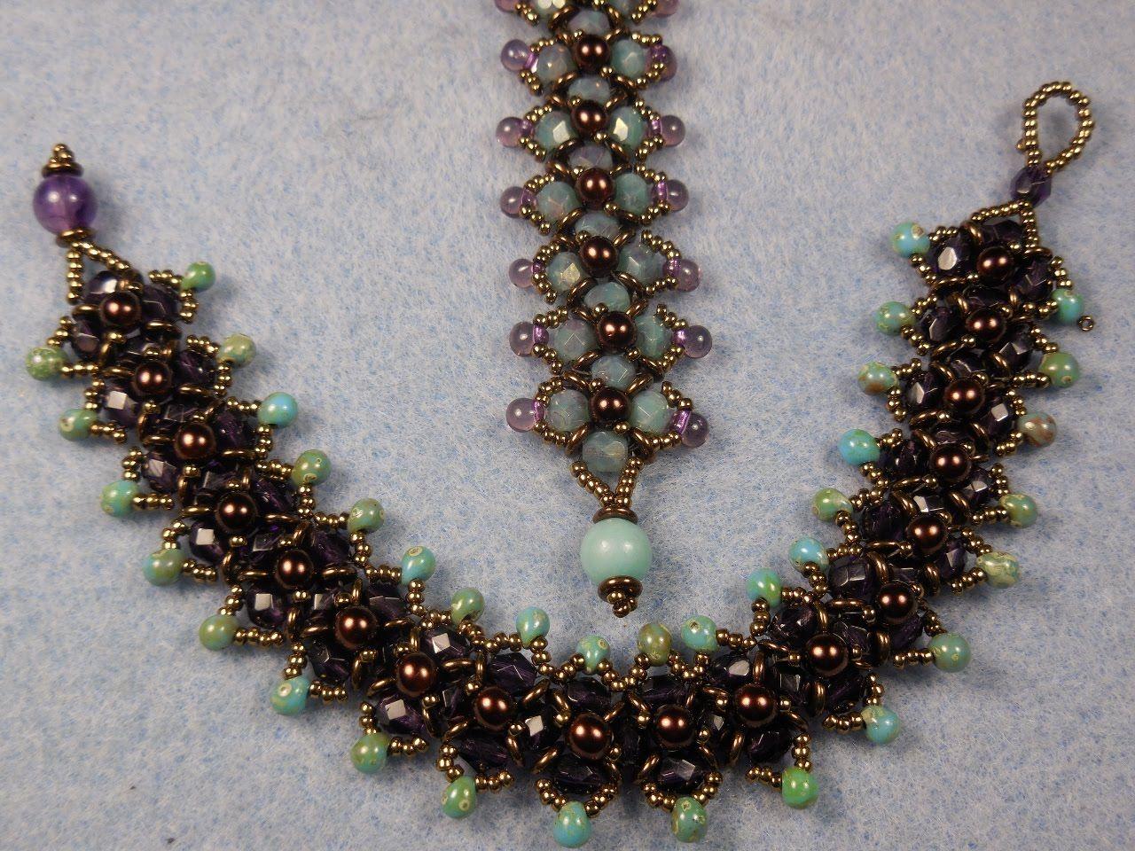Spring Flower Buds Bracelet Part 1 Beaded Bracelets Pinterest