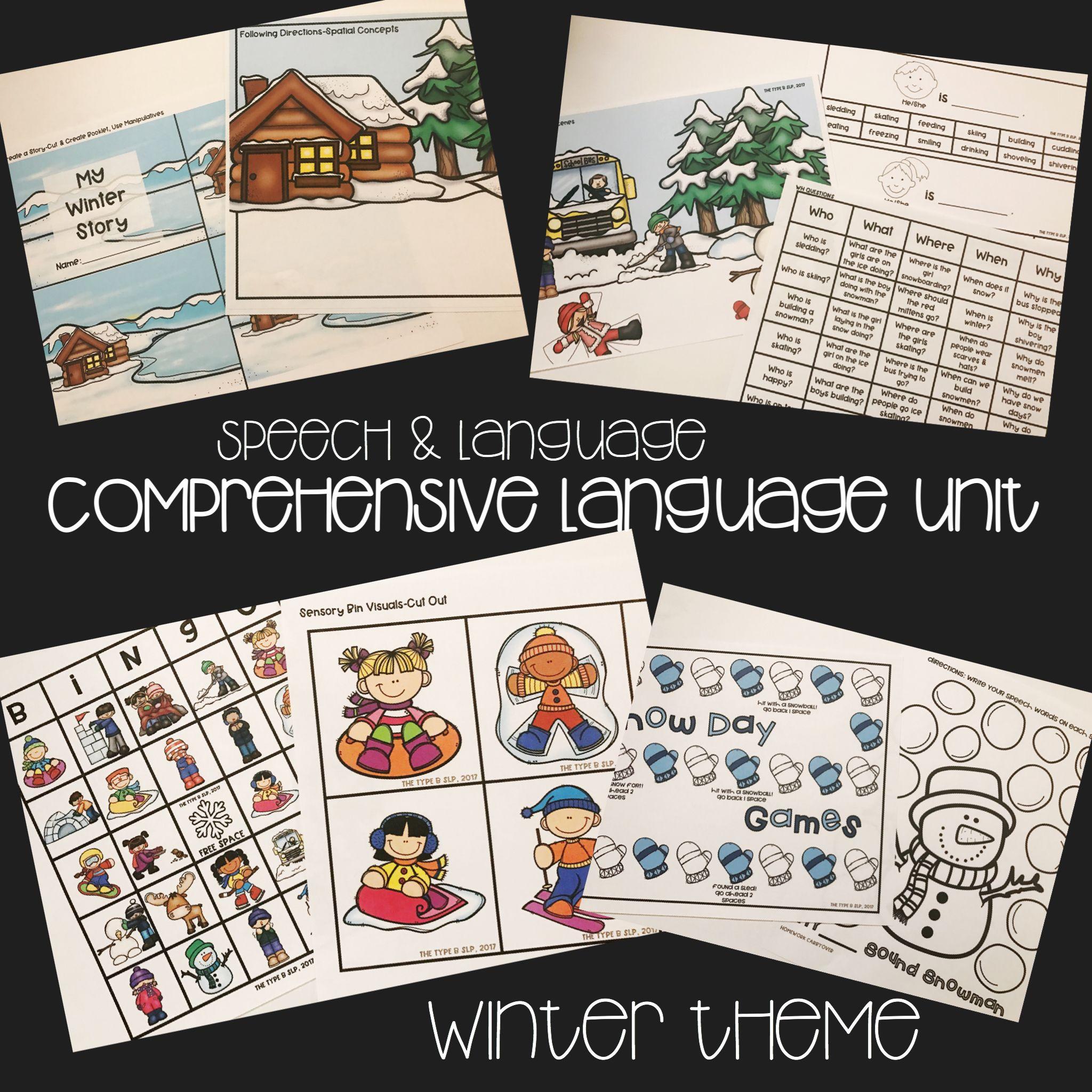 Low Prep Winter Comprehensive Speech And Language Unit