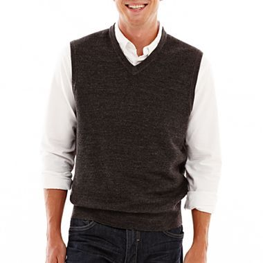 Dockers® Cross-Tuck Sweater Vest - jcpenney | Man Style ...