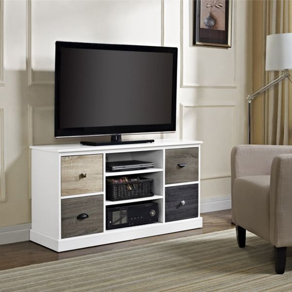 Just Going All Out With The Woods ;) Altra Mercer Storage TV Console With  Multicolored
