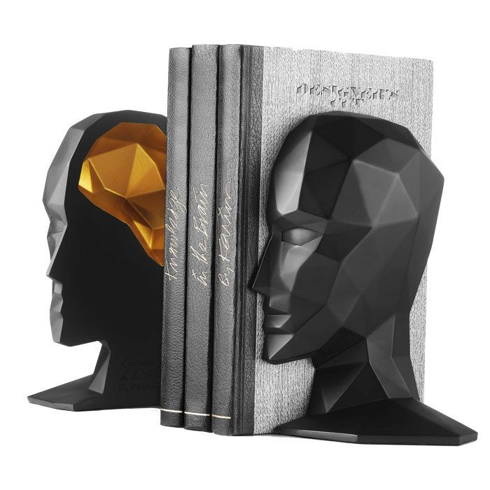 Knowledge in the Brain Bookend (Set of 2)