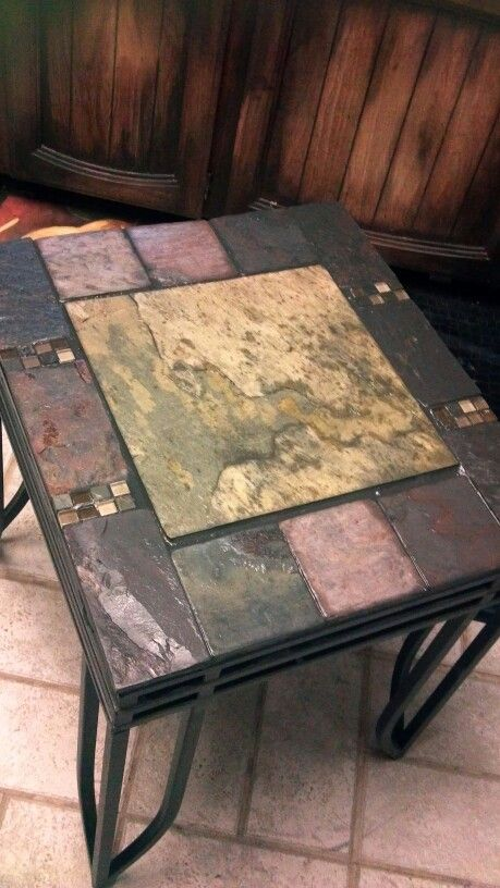 Slate Tiled End Tables With Images Tile Top Tables End Tables