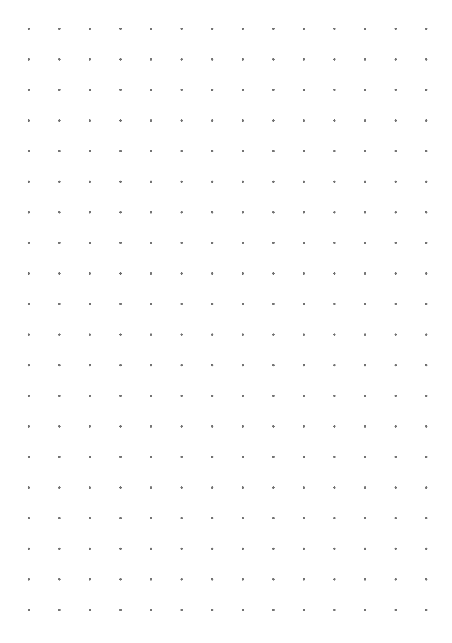 Dot Grid Paper With 10 Mm Spacing