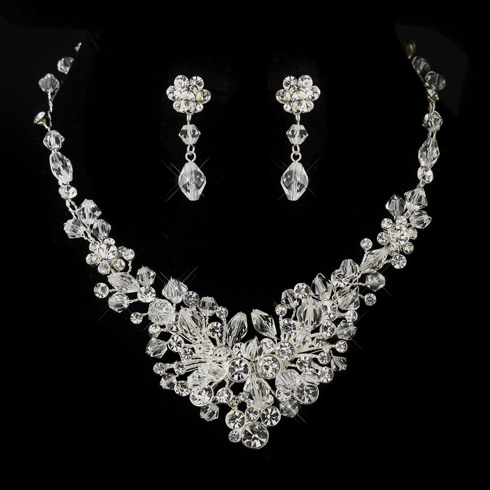71ff0d05c02 This Dazzling Crystal Wedding Jewelry Set will add lots of bling to your  wedding day! affordableelegancebridal.com