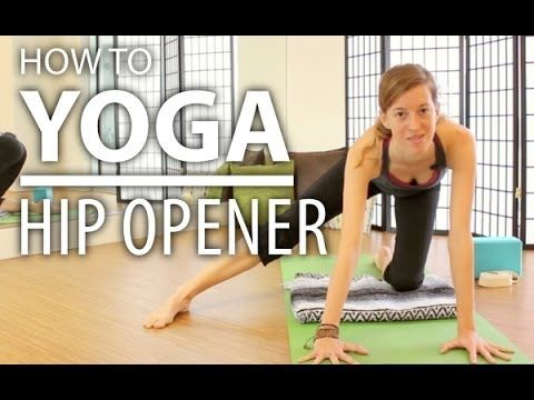 how to yoga for beginners  gentle hip opener easy safe