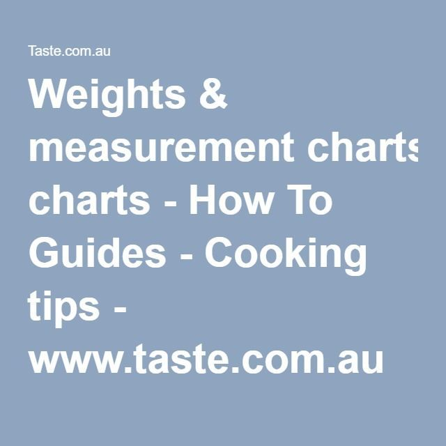 Weights \ measurement charts - How To Guides - Cooking tips - measurement charts
