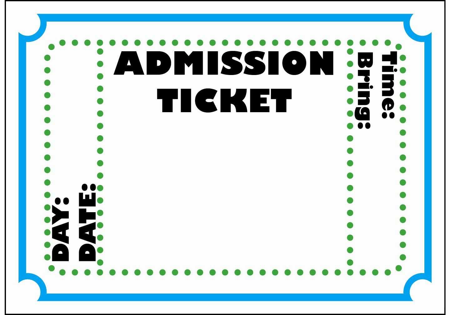 Free Ticket Template Printable Lovely Movie Ticket Template Ticket Template Ticket Template Printable Movie Ticket Template Movie ticket template for word