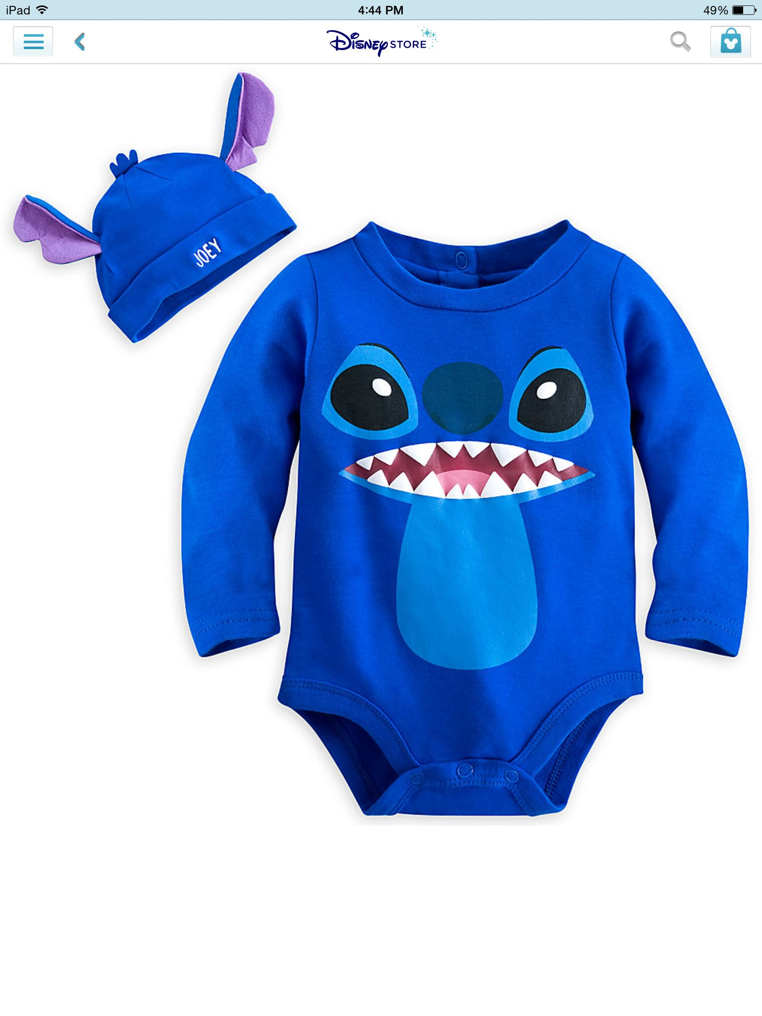 0725bcaa8a2 Personalized stitch clothing for baby. Disneystore.com