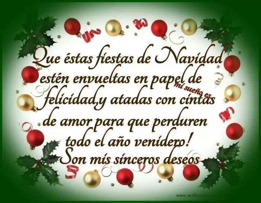 Para Toda La Familia Deseos Navidad Tarjeta De Navidad