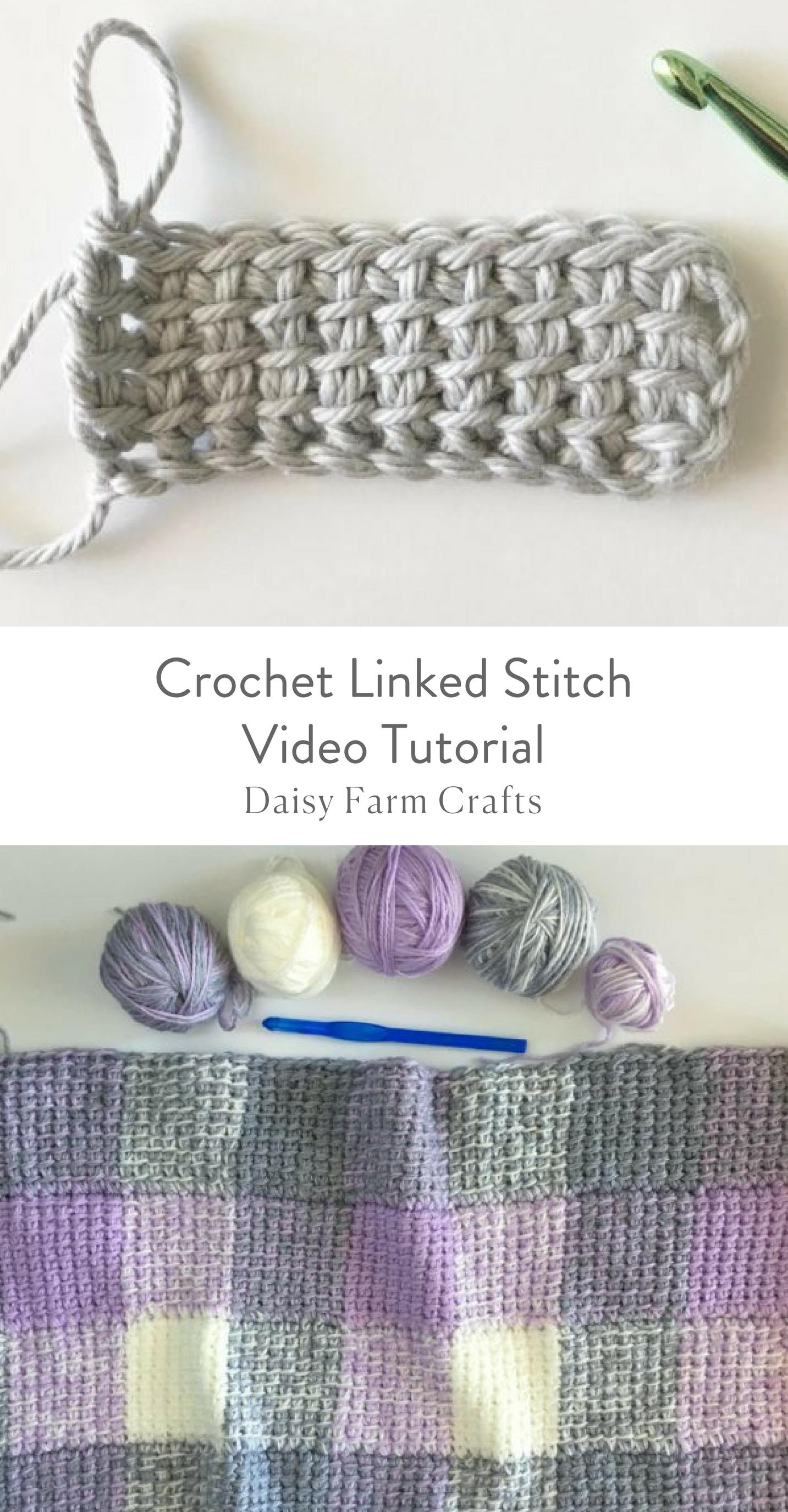Crochet Linked Stitch Video Tutorial | Crochet | Pinterest | Tejido ...
