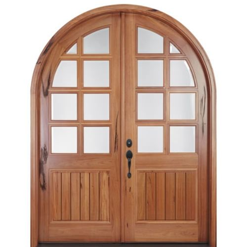 MAI Doors A80GP-RT Alpine Full Radius Top Rail 8-Lite Double Entry Doors  sc 1 st  Pinterest & A80gp-rt | Double entry doors Wood doors and Round top pezcame.com